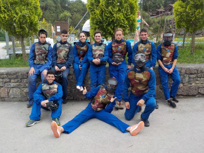 grupo de paintball Diario campamento multiaventura Asturias 2019
