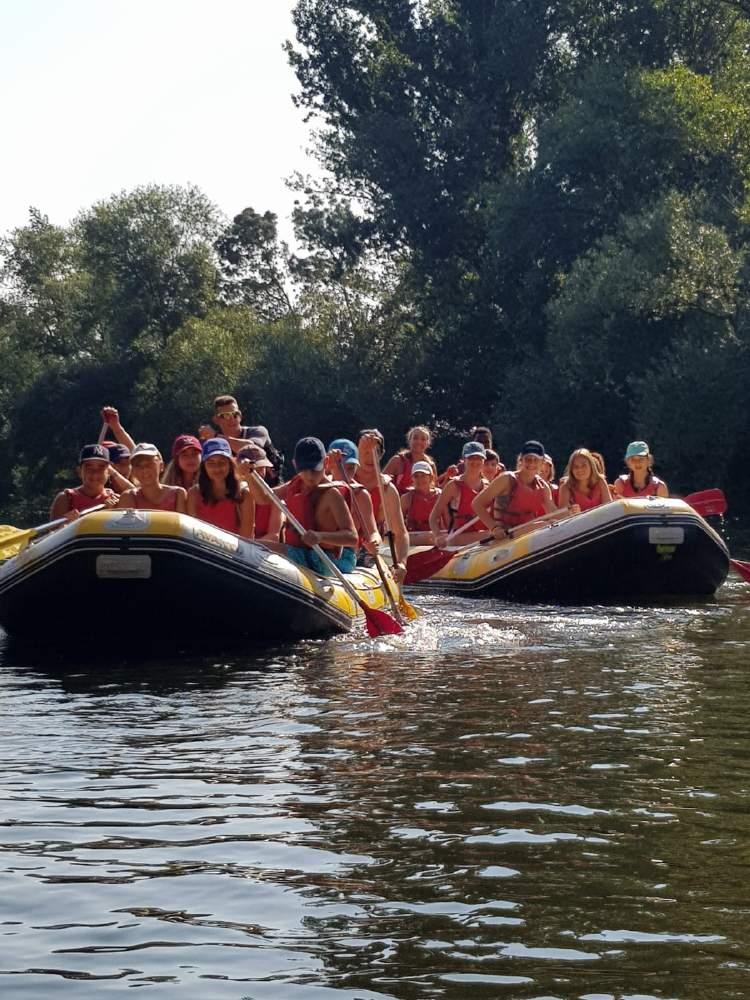 raftin en el rio tormes