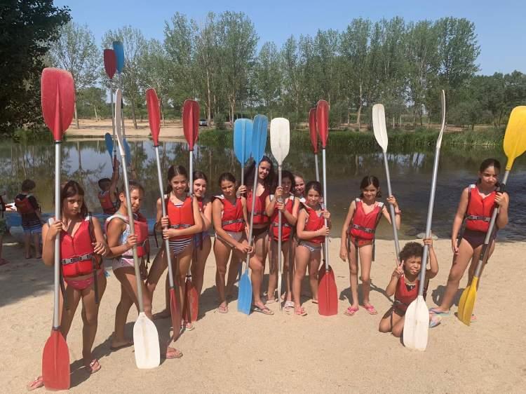 Rafting y piragua. Colonia de verano en Salamanca. Inglés o francés julio 2019