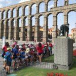 Excursión acueducto de Segovia. Campamento de verano.