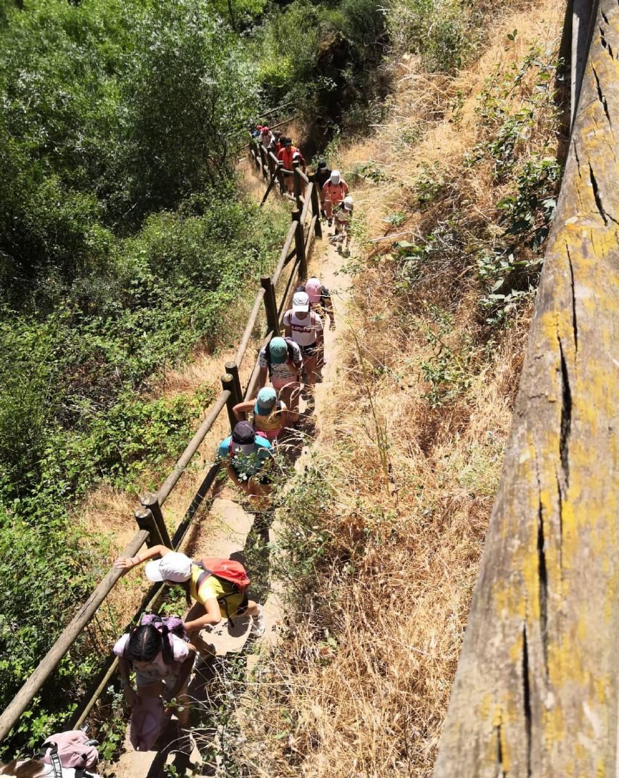 Excursion senda de los dos rios. Campamento de verano en Sepulveda.