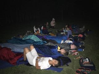 actividades y vivac. Campamento de verano en julio