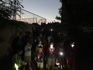 Grupo niños velada. Campamento de verano julio