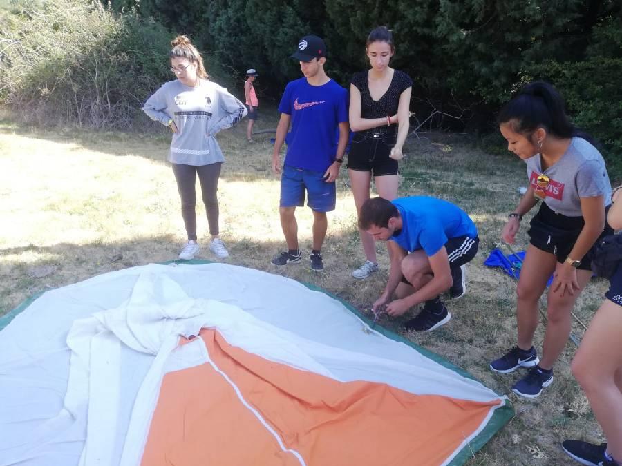 iniciación a la acampada