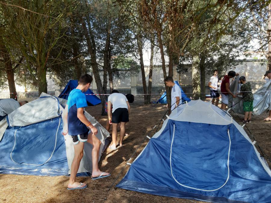 acampada Curso monitor tiempo libre julio