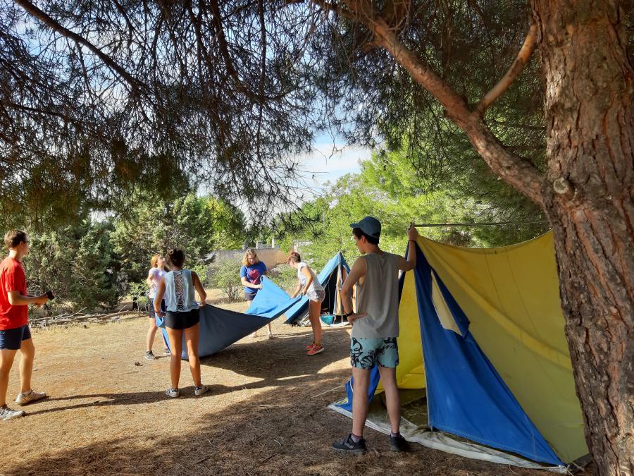 acampada en el curso de monitores