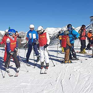 cursillo ski nieve para niños eduma