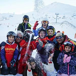 curso de ski reyes para familias y niños
