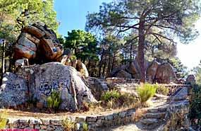 Excursión a la Cobañera en el campamento en madrid Agosto .