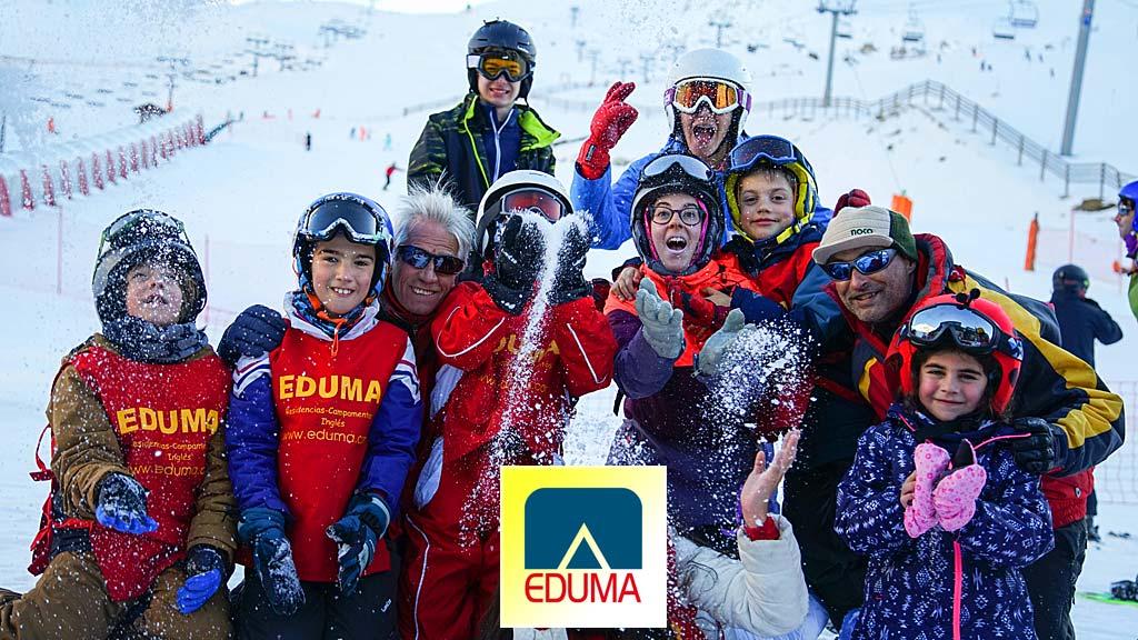 Curso esqui campamento de nieve Vacaciones escolares. Dias sin cole.