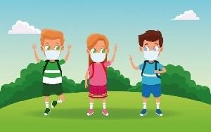 Niños mascarilla. Coronavirus campamentos verano 2021