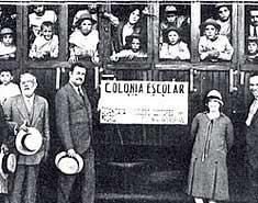 historia primeros campamentos verano colonias escolares. Inicios y origenes