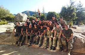 Tipos de campamentos de verano. Campamento militar