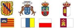 Escudos. Escuelas de Tiempo Libre reconocidas Comunidad Baleares, Canarias, Cantabria y Castilla la Mancha