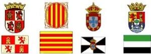 Escudos. Escuelas de Tiempo Libre reconocidas Comunidad Castilla y León, Cataluña y Extremadura.