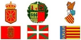 Escudos. Escuelas de Tiempo Libre reconocidas Comunidad Navarra, Pais Vasco y Valencia