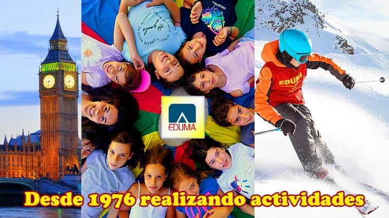 campamentos de verano y cursos de esquí para niños, familias.