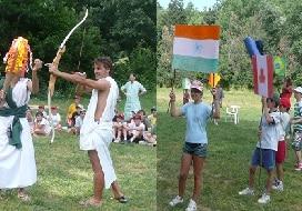 juegos de campamento para grandes grupos olimpiadas