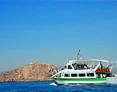 Excursion barco. Colonia náutica Murcia
