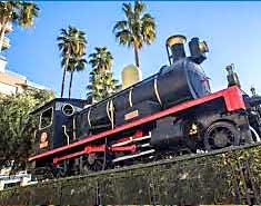 Museo del Ferrocarril Águilas, Murcia. Colonia náutica de playa
