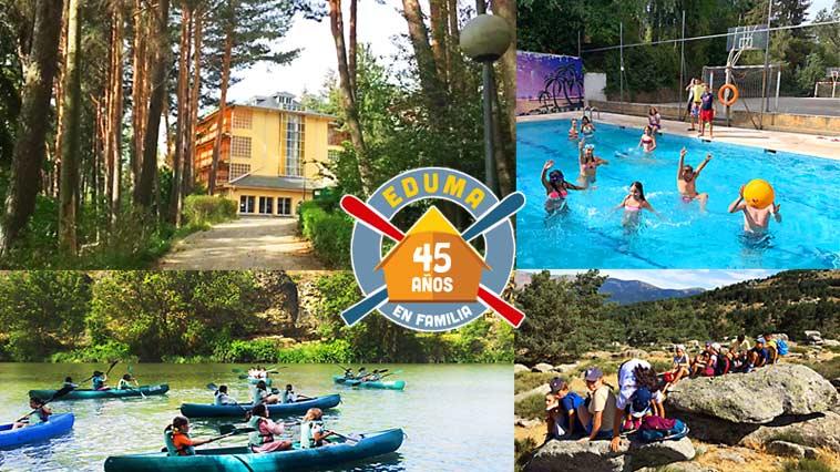 Campamento de verano en Madrid Agosto 2021. Guadarrama.
