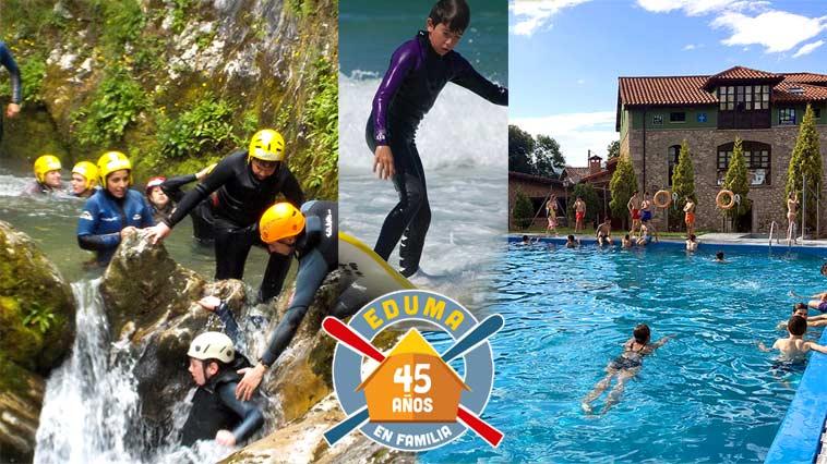 Campamento multiaventura en Asturias 2021