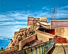 Castillo San Juan. Águilas, Murcia. Colonia náutica julio y agosto