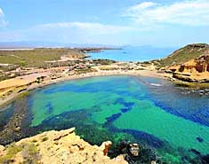 Playa 4 Calas. Campamento naútico en Murcia, Águilas.