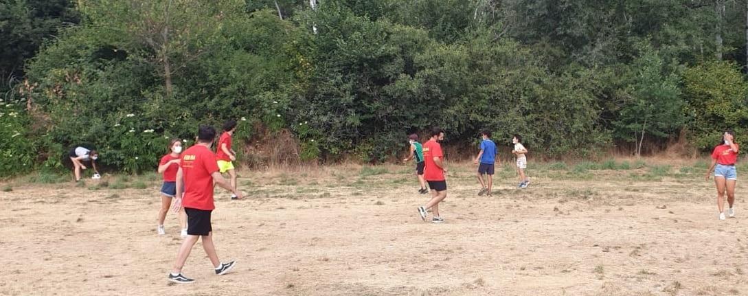 Futbol en campamento de verano Segovia julio