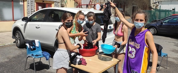 Taller lavandería campamento Madrid